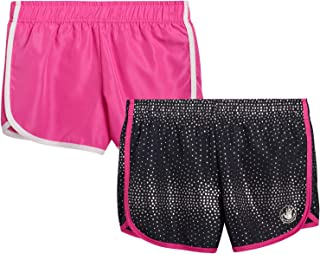 Body Glove Girls 2 Pack Athletic Workout Yoga Running Shorts