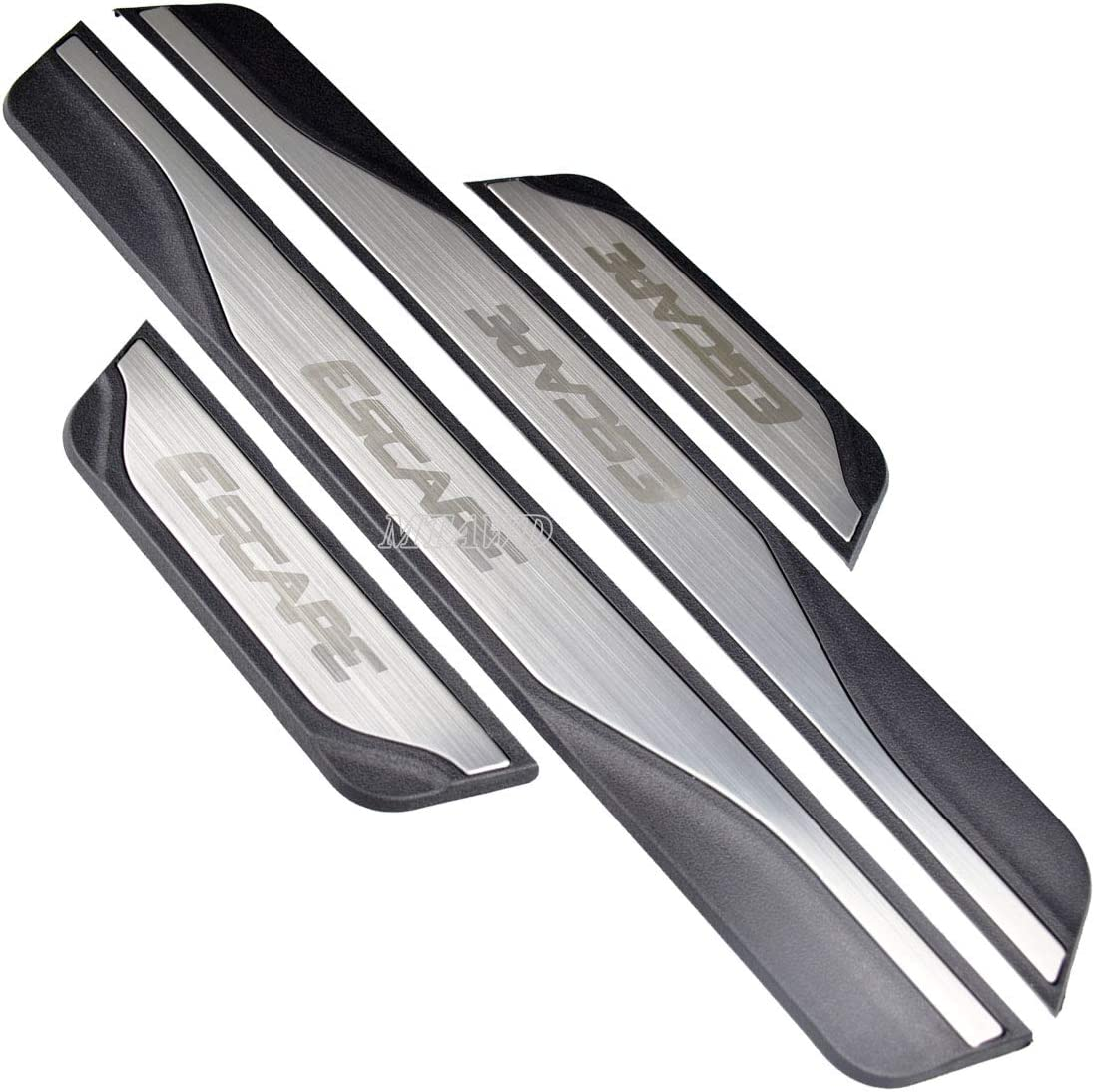 MTAWD Stainless Car Door Sill Scuff Plate Kick Pedal Protectors for Ford  Escape 21 21