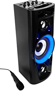 Reflexion PS07BT Système DJ Karaoké PA, avec Batterie et Effets Lumineux (Bluetooth, USB, AUX, Prise Microphone, raccordem...