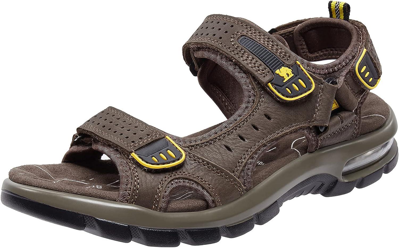 CAMEL CROWN Men's Leather Sandals Walking Tread Beach Dedication Hiking Denver Mall for