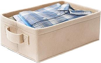 KELIVOL Felt Storage Basket, Foldable Storage Basket with Handles, Toy Storage Box, Book Felt Storage Bin, Laundry Basket,...