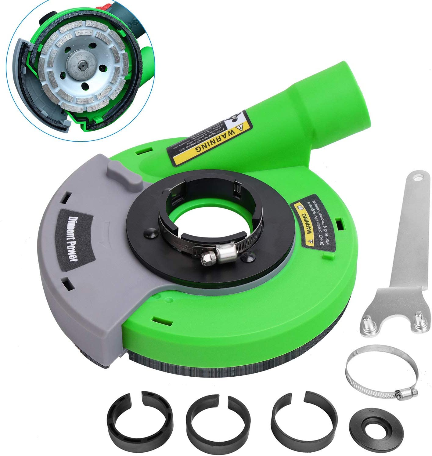 Max 66% OFF Diment Power Surface Excellence Grinding Dust Angle for Grinder Shroud 115m