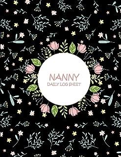 Nanny Daily Log Sheet: Black Book, Nanny Journal,Kids Record, Kids Healthy Activities Record Large Print 8.5
