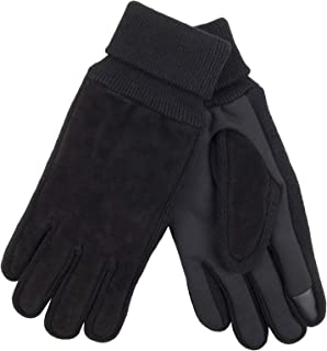 Levi's Men's Suede Gloves With Knit Grip and Touchscreen Capability