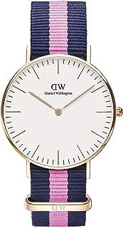 Daniel Wellington 丹尼尔?惠灵顿 Classic系列 玫瑰金表圈表扣 石英手表 女士腕表 尼龙表带