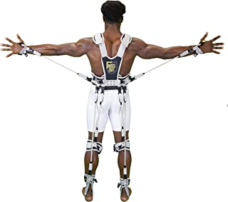 MASS SUIT Pro Series by Juke Performance - Resistance Band Suit for Athletes - Full Body Workout Includes Arms, Back, Legs, and Chest - Enhance Performance Including Speed, Strength, and Power