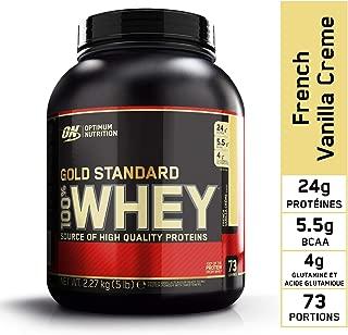 OPTIMUM NUTRITION GOLD STANDARD 100% Whey Protein Powder, French Vanilla Creme, 5 Pound