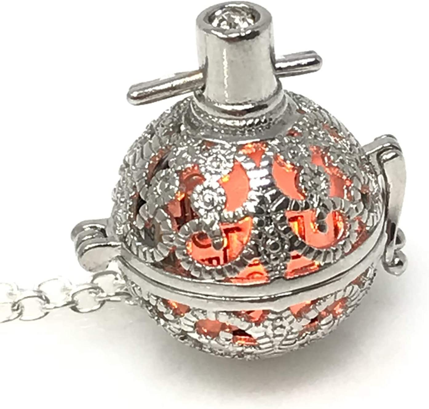 UMBRELLALABORATORY Steampunk FIRE Necklace - Pendant Max 72% OFF Glow Locket sale