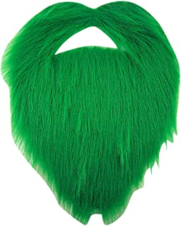 Dubster Self Adhesive Green Beard and Mustache Costume Accesory