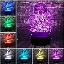 3D Night lamp 3D Religious LED NightLamp Uular Avalokitesvara Buddha Lamp Home Decor Crack Illusion Mood Lava Holiday f...