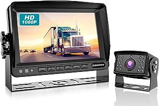 Fookoo Ⅱ HD 1080P Wired Backup Camera System Kit, 7 inch 1080P Reversing Monitor IP69 Waterproof Rear View Camera, Sharp C...