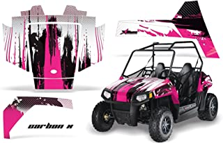 AMRRACING Polaris RZR 170 Youth All Years Full Custom UTV Graphics Decal Kit - Carbon X Pink