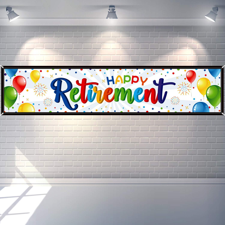 Happy Retirement Banner Huge Retirement Party Sign Home Outdoor