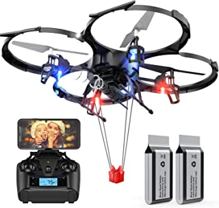 Big Size with Love Drone,Love Gift,Wedding Shooting/Record,Long Flying Time for 2 Batteries,FPV 720P HD WiFi Camera Drone,Altitude Hold,Headless Mode