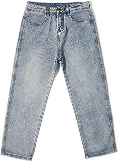Heren klassieke rechte pijpen Regular fit stijlvolle denim jeans, lente en zomer losse trend All-match gewassen casual jeans