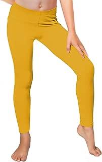 girls mustard leggings