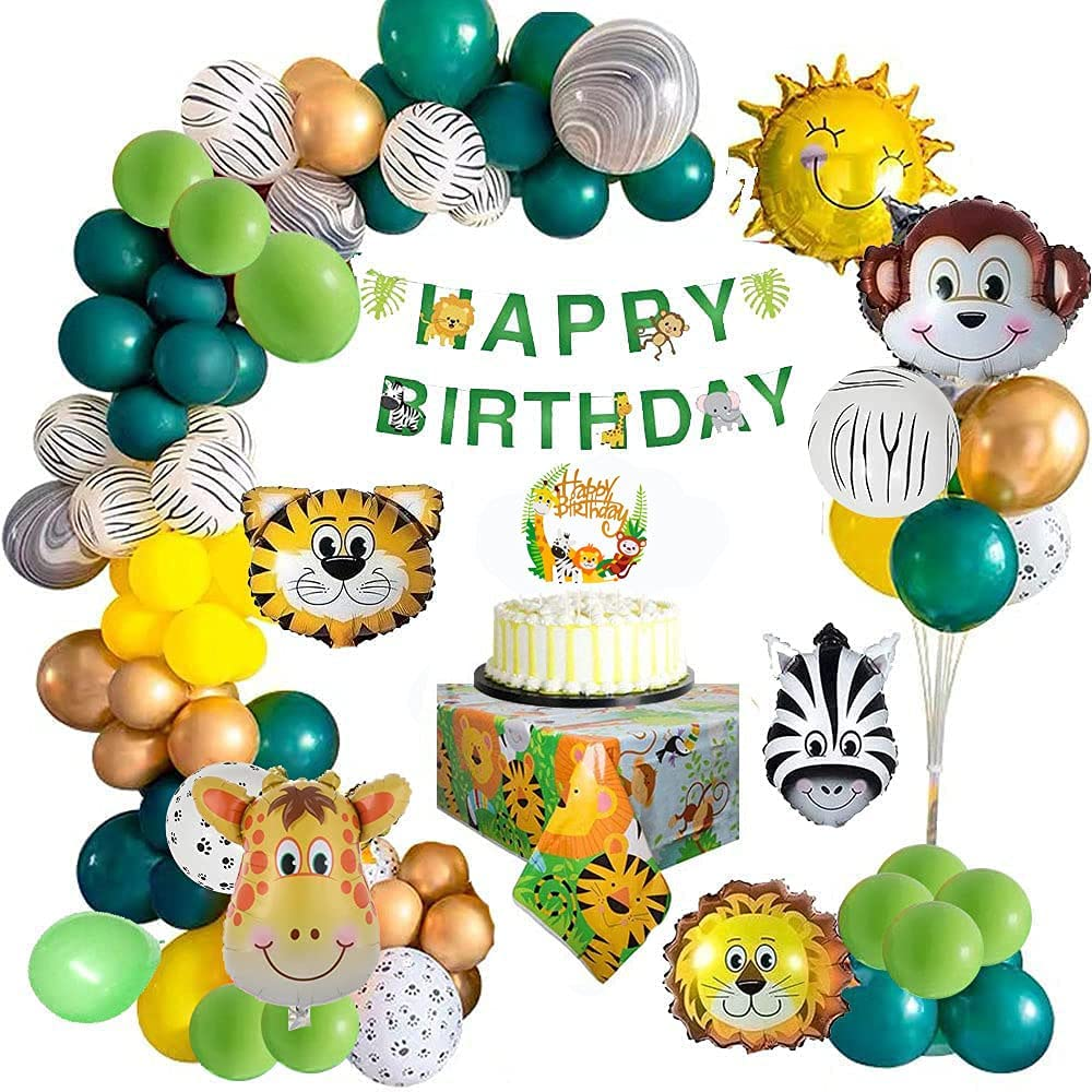 Jungle Safari Happy Birthday Ga San Bargain Diego Mall Decorations Kids Balloon