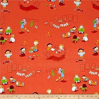 Windham Fabrics 0546934 Heather Ross Kinder Kindergarten Red Fabric by the Yard
