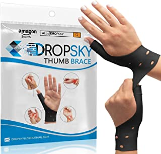DropSky [4pcs] Gel Wrist Thumb Support Braces Soft Waterproof Breathable, Relief Pain Carpal Tunnel, Arthritis Thumb, Fits...