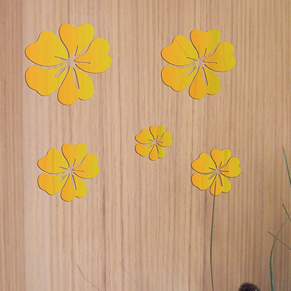 RYGHEWE 3D Acrylic Mirror New mail order Wall - High quality new Sticker Peach Blossom