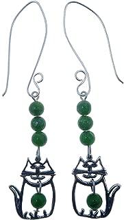 SatinCrystals Diopside Earrings 3