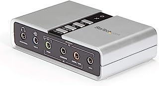 Startech.com ICUSBAUDIO7D - Tarjeta de Sonido Externa (7.1, USB, 3.5 mm, Puerto óptico), Color Blanco