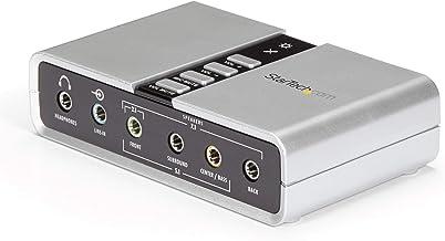 StarTech.com 7.1 کارت صدا USB - کارت صدا خارجی برای لپ تاپ با صدای دیجیتال SPDIF - کارت صدا برای رایانه - نقره (ICUSBAUDIO7D)