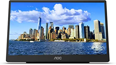 """AOC 16T2 15.6"""" Full HD (1920 x 1080) Touch-enabled portable IPS monitor, USB-C and Micro HDMI inputs, Built-in battery, St..."""