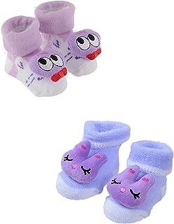 SHOP FRENZY Cute Stylish Designer Baby BOY Girl Kids New Born Infant 0-6 Months Bootie Booty Socks Shoes Prewalker First Walker Soft