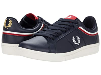 Fred Perry B721 Tipped Collar Leather (Navy) Men