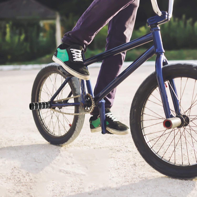YMWALK Bike Pegs,2 Pieces Universal Aluminum Bike Foot Pegs BMX Stunt Pegs Cycling Pegs Anti-slip Rear Feet Pedals Cycling Bike Accessories for BMX Mountain Bike Bicycle