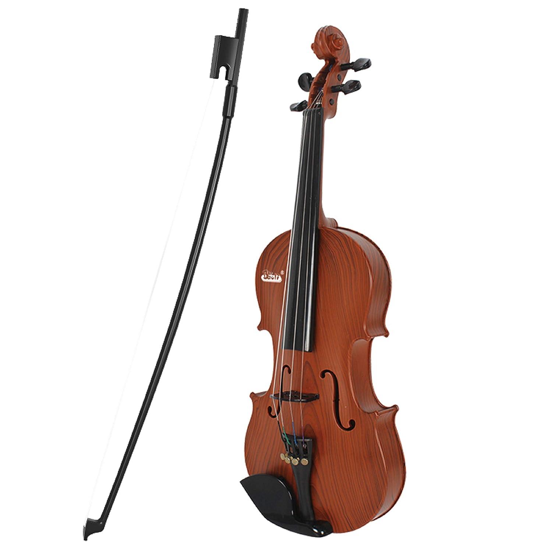Jack Royal Classic Violin Guitar Educational Musical Instrument for Kids (Brown) (Assorted Colors)