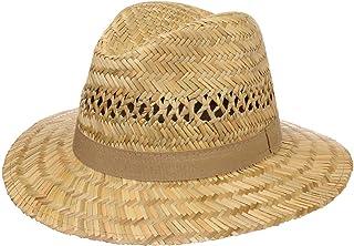 Lipodo Traveller Cappello di Paglia da Uomo - Cappello in 100% Paglia - Cappello da Sole in S, M, L e XL - Prodotto in Ita...