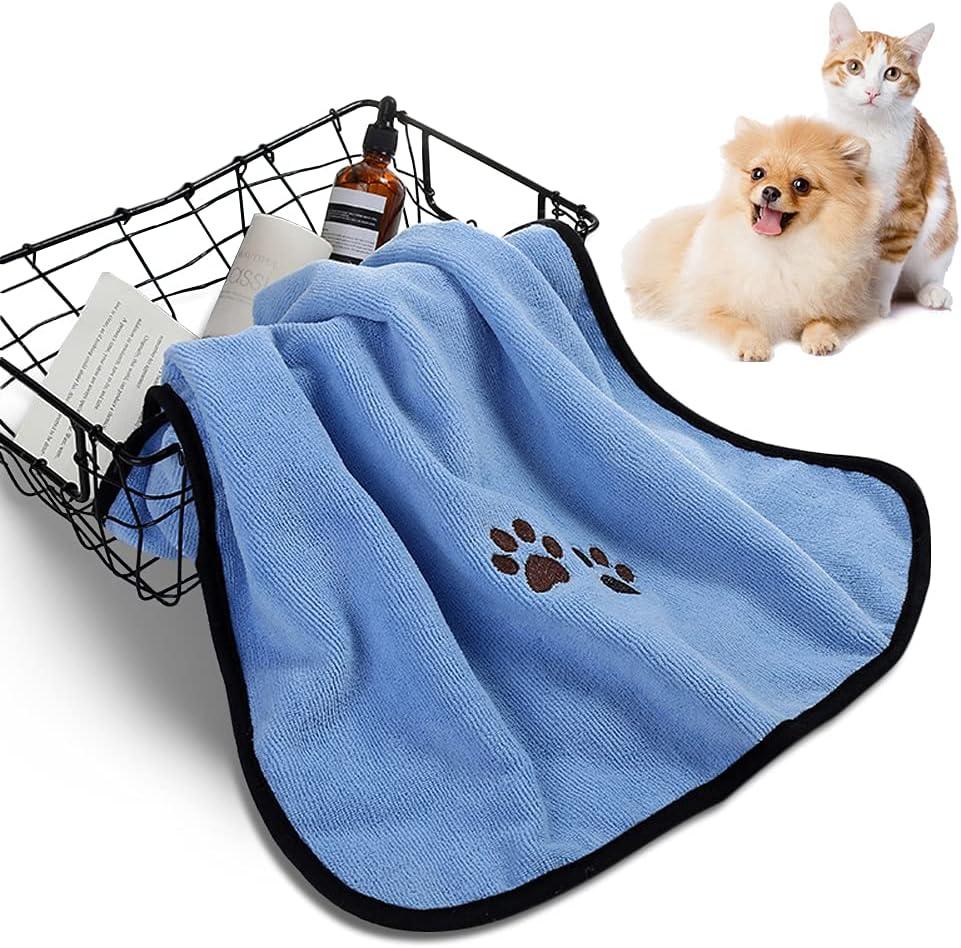 LALFPET Dog Bath Towel Cat Bath Towel Microfiber Absorbent Towel Soft Comfortable Pet Supplies for Small, Medium, Large Dogs and Cats