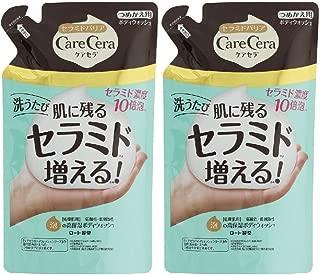 ケアセラ(CareCera) ケアセラ (CareCera) 泡の高保湿 ボディウォッシュ ピュアフローラルの香り (つめかえ用) ※セバメドモイスチャーローション10mlサンプル付き 350mL×2個 +サンプル付き