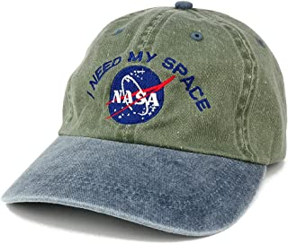 AC Racing NASA I Need My Space Embroidered Washed Cotton Cap