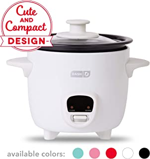 Dash DRCM200GBWH04 Mini Rice Cooker Steamer with Removable Nonstick Pot, Keep Warm..