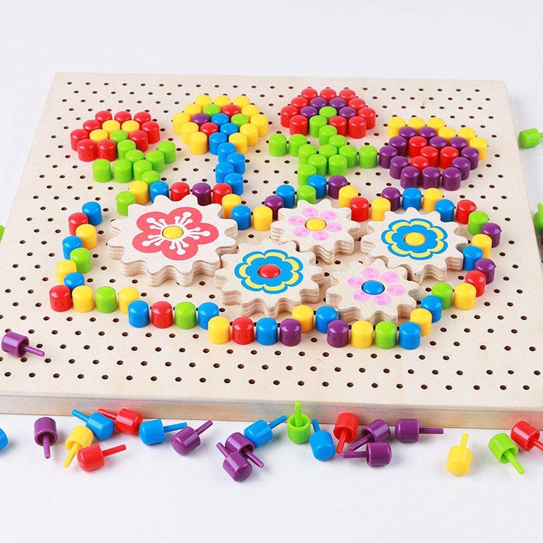 Byx- Baby Aufklärung Frühes Lernen Spielzeug Kinder Puzzle Pilz Nagel Kombination Puzzle Holz Rechtschreibung Spielzeug 1-3-6 Jahre Alte Jungen Und Mädchen Geschenke -Spielzeug B07Q7XLSKT Angenehmes Gefühl | Genialität