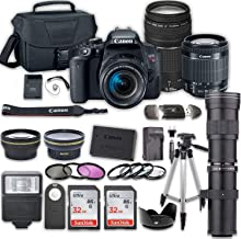 $999 » Canon EOS Rebel T7i DSLR Camera Bundle with Canon EF-S 18-55mm f/4-5.6 is STM Lens + 2pc SanDisk 32GB Memory Cards + Accessory Kit(w/ 3 Lens - 18-55 + 75-300 + 420-800)