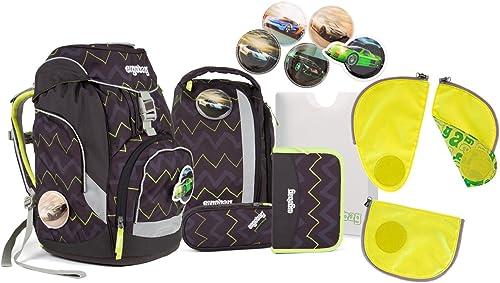 Ergobag - Schulranzen Set 6 tlg. PACK Drunter und DrüB inkl. Sicherheitsset