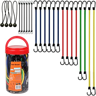 Cartman Bungee Cords Assortment Jar 24 Piece in Jar - Includes 10