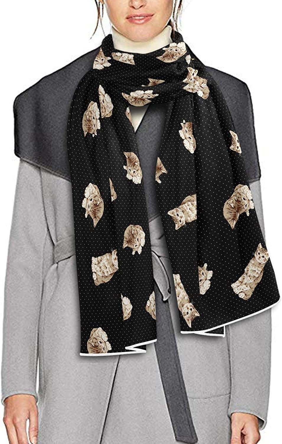 Scarf for Women and Men Pretty Cute Cats Blanket Shawl Scarves Wraps Warm soft Winter Long Scarves Lightweight