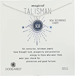 Dogeared - Magical Talisman New Beginnings, Small Lotus Navy Enamel Talisman Necklace