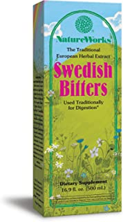 NatureWorks Swedish Bitters, Traditional European Herbal Extract Used for Digestion, 16.9 Fluid Ounce