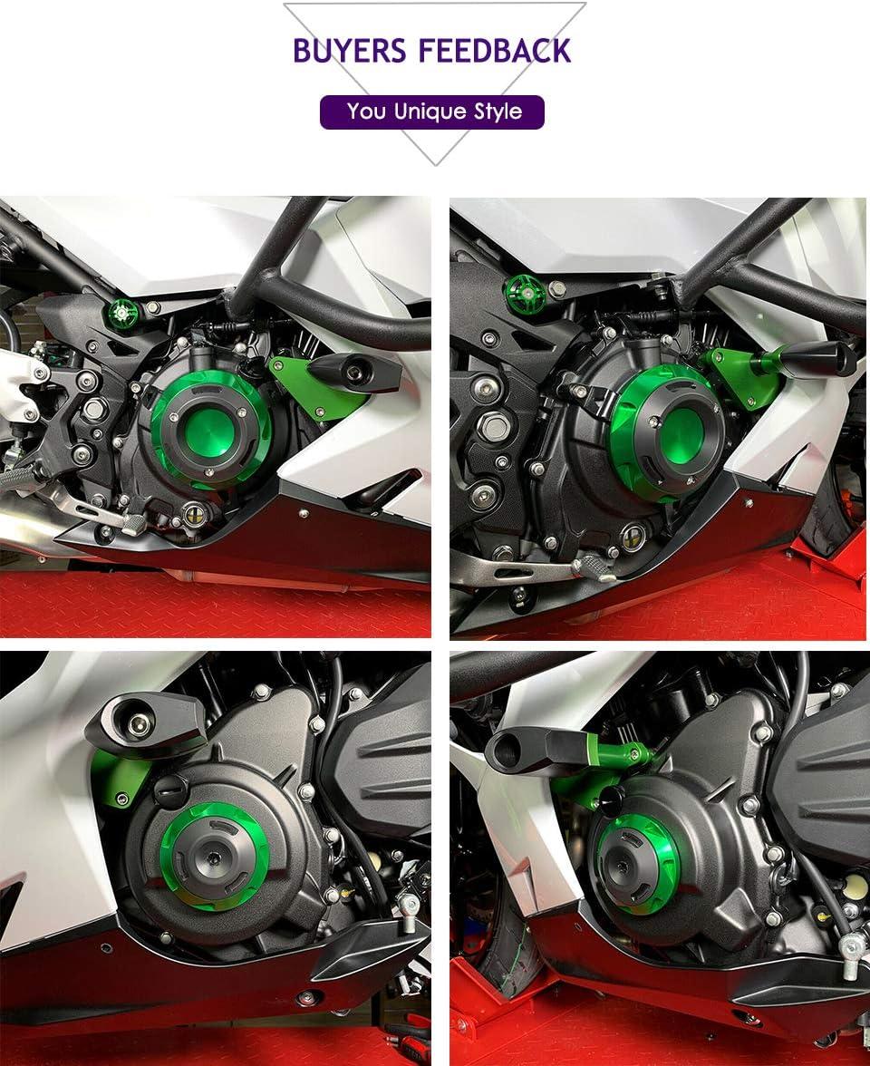 18 19 400 Ninja Moteur Stator Protector Case Cover Cover Slider Garde Gauche Droite Pour Kawasaki Ninja 400 Ninja400 2018 2019 Noir