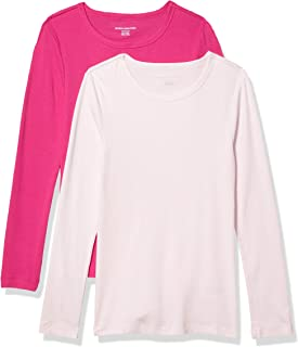 Amazon Essentials Women's 2-Pack Slim-Fit Long-Sleeve Crewneck T-Shirt
