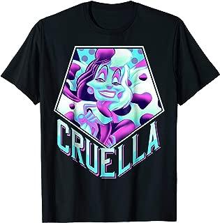 Dalmatians Cruella Bold Pop Art Graphic T-Shirt