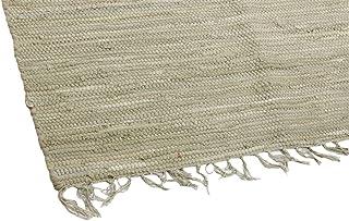 Mindi Tappeto in Cotone con Frange 50x80 cm, Beige Disponibile in Diversi Colori e 3 Diverse Misure AVANTI TRENDSTORE