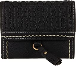 Bankford Woven Square Flap Indexer Wallet