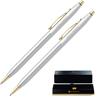 Dayspring Pens | Personalized Cross Pen Set, Classic Century Medalist Pen & Pencil Set 330105. Custom Engraved With Name or Message.